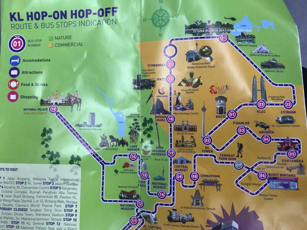 ホップオンホップオフバスの路線図