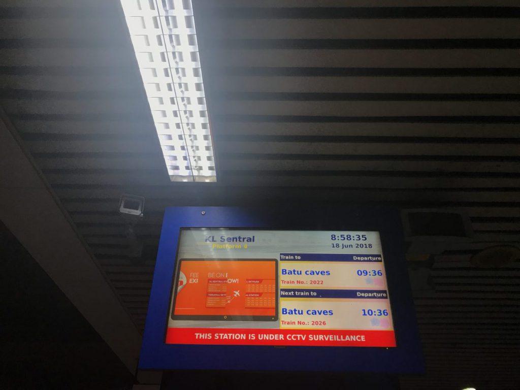 バトゥ洞窟行きのKTMコミューターの掲示板