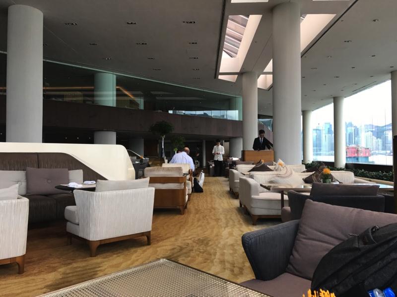 香港インターコンチネンタルホテルのラウンジ