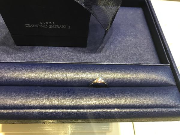 銀座ダイヤモンドシライシで購入した指輪