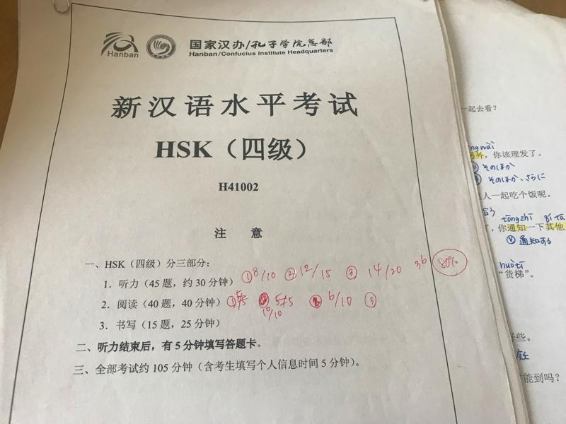 HSK4級過去問